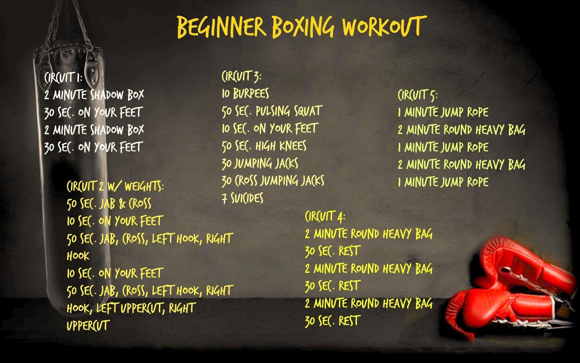 Beginner Boxing Workout