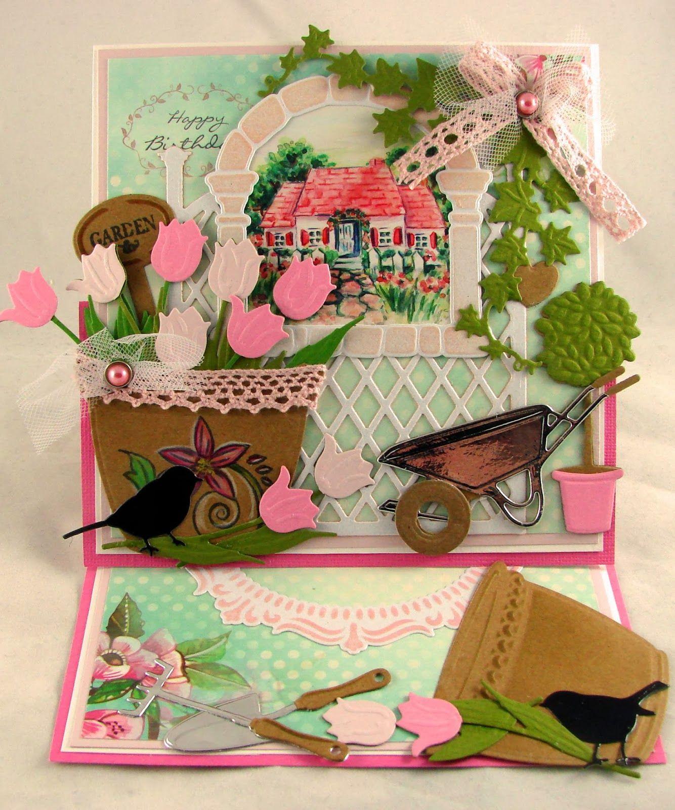 marianne design wheelbarrow | Get your kraft and Marianne Design goodies out!