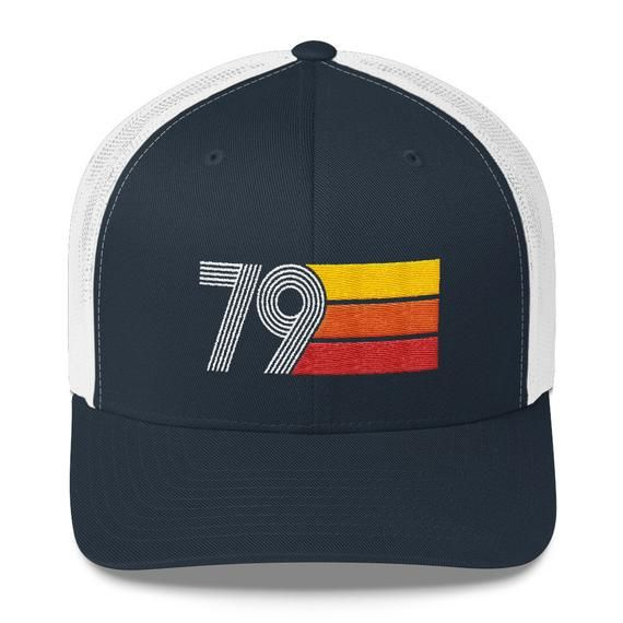 74b64400 Retro 1979 39th Birthday Mens Womens Trucker Cap | Retro Birthday ...