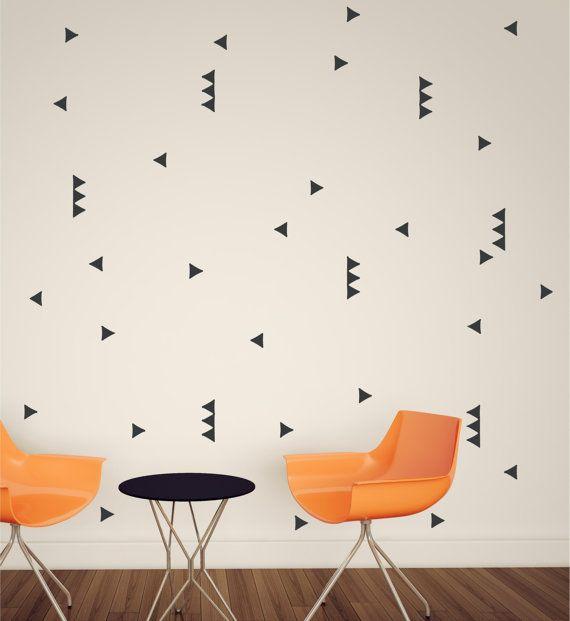 Bedroom Ideas Kerala Interior Home Design Bedroom Ideas Homemade Bedroom Wall Decor Matte Black Bedroom Ideas: Wall Pattern Triangle Wallpaper Vinyl Decor Wall Lettering