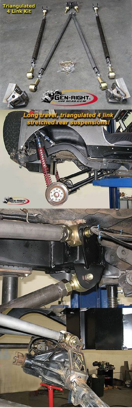 GenRight Off Road Rear 4 Link Suspension Kits Pirate4x4