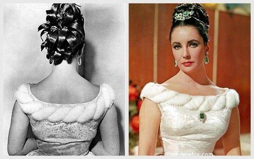 Elizabeth Taylor 60s Updo Vintage Hairstyles Elizabeth Taylor Elizabeth