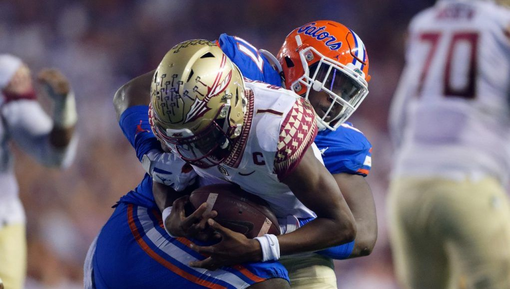 University Of Florida Defensive Lineman Zach Carter Sacks Florida State Quarterback James Blackman Florida Gators Football 1280x853 In 2020