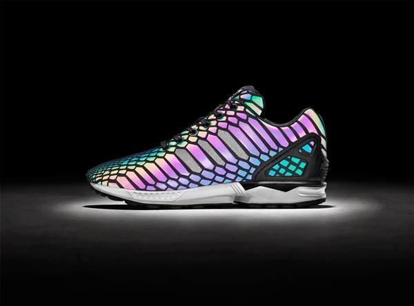 Iridescent Adidas Sneakers Explode With Color In The Flash Of A Camera Read  more at http