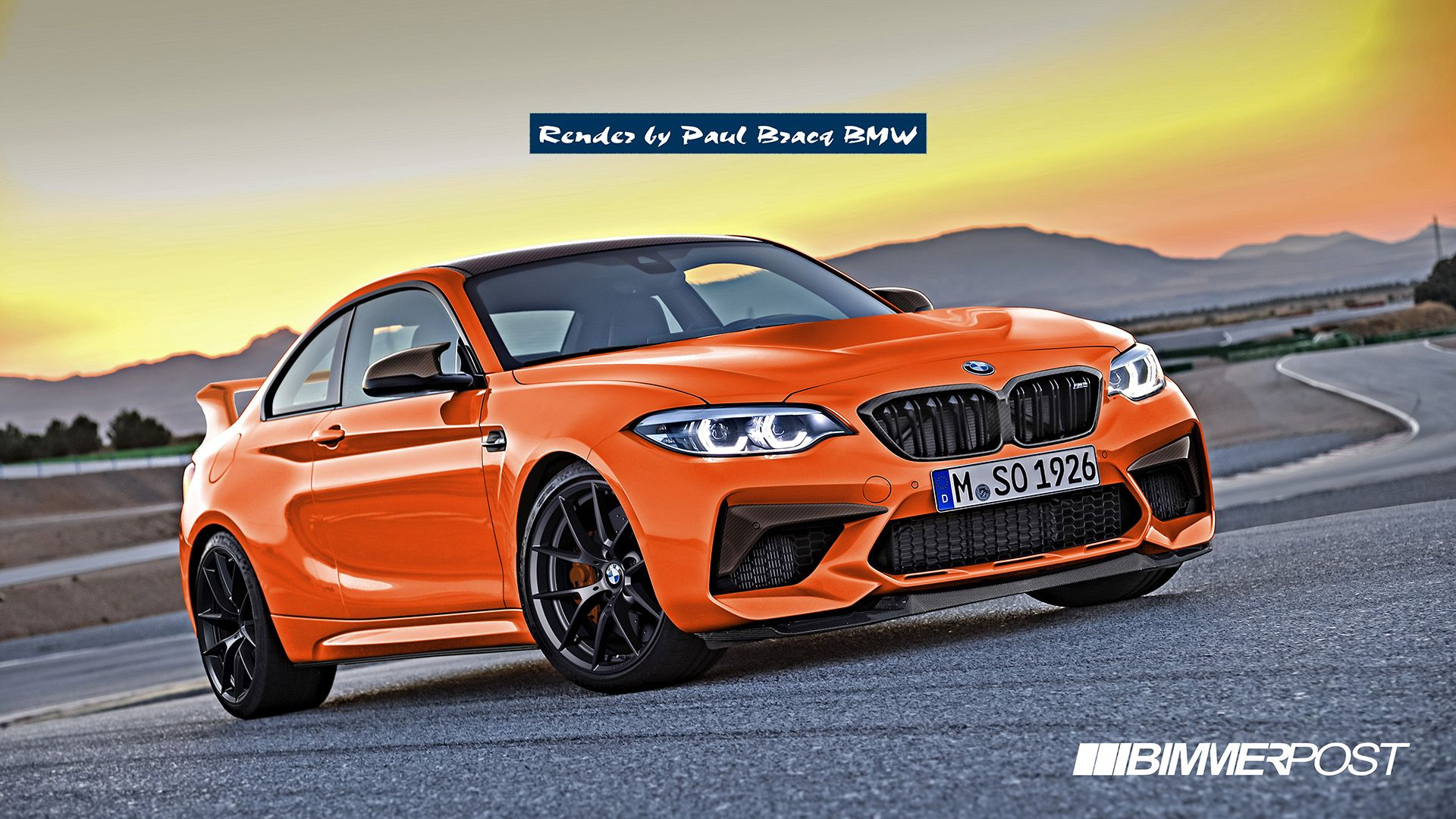 Bmw M2 Csl Rendered From M2 Competition With Images Bmw Bmw