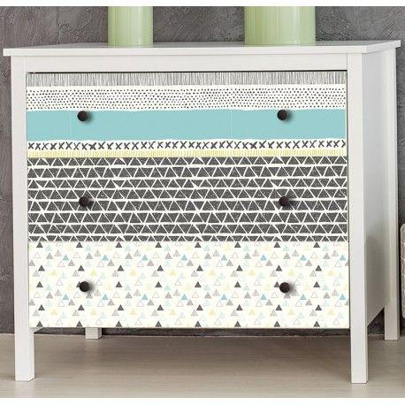 35 00 stickers pour meuble style scandinave 3 planches de 100 x 30 cm d coration chambre d - Stickers deco meuble ...