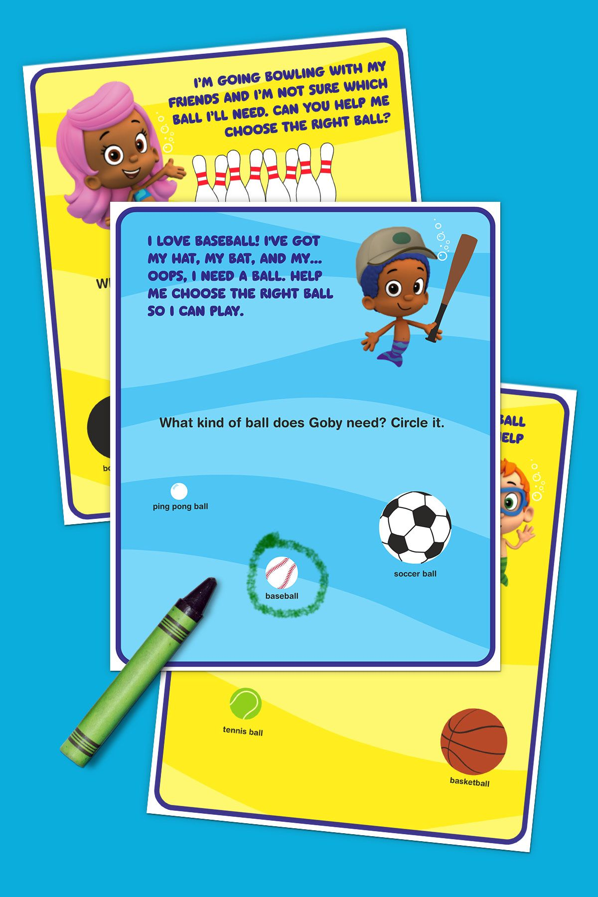 bubble guppies sports activity pack sports activities bubble