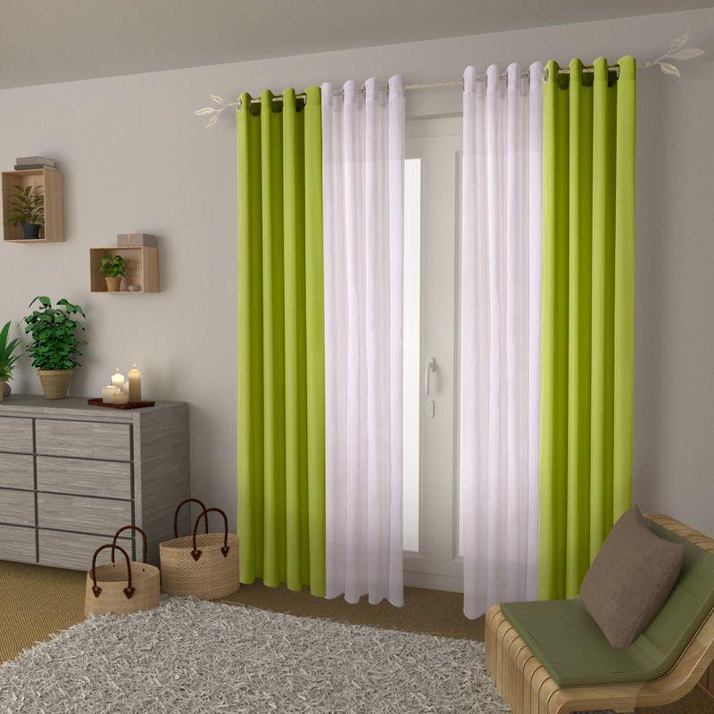 rideau essential coloris vert anis 140