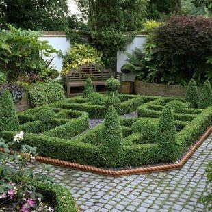 English Knot Garden Design Ideas plant suggestions via