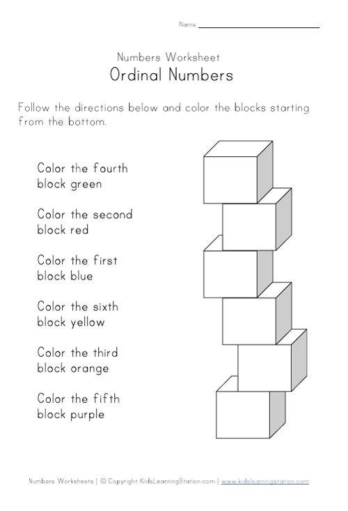 Ordinal Numbers Worksheet For Kids Incorporating Math