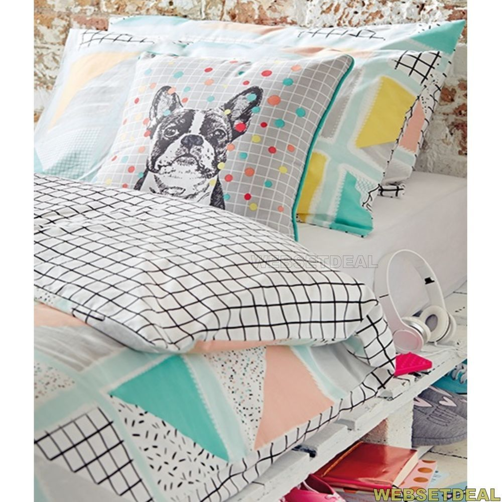 TRIANGLE MULTI GEO GEOMETRIC Primark Duvet Cover Set Size Single Double King   Bed linen sets