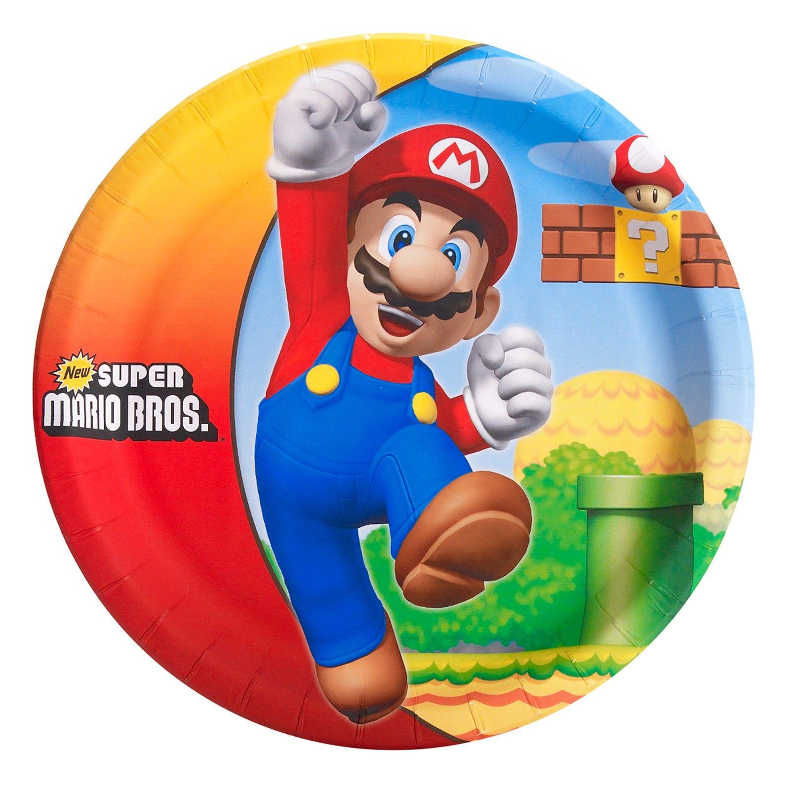 Yoshi Dessert Plates BirthdayExpress Super Mario Bros 8
