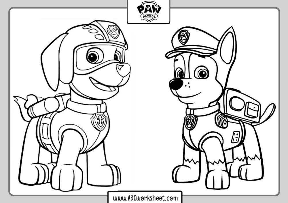 Paw Patrol Coloring Pages Wenn Du Mal Buch Ausmalbilder Pfote Patrouille Geburtstag