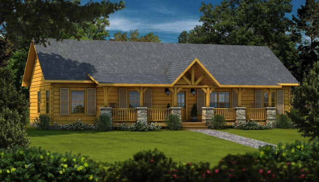 Laurens II Plans & Information Log homes, Cedar homes