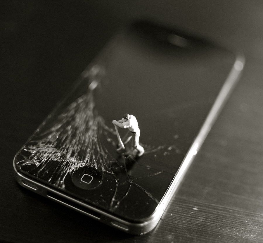 Broken iphone by louise fahy on 500px grappige fotos