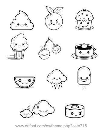 Kawaii Com Imagens Pequenos Desenhos Desenhos Aleatorios Desenhos Faceis