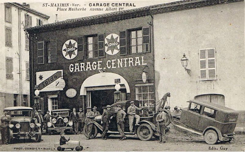 Garage Central Place Malherbe Avenue Albert 1er Saint Maximin Var France Marque Spido Affiche En Frand Sur Old Truck Photography Old Garage Radiator Shop
