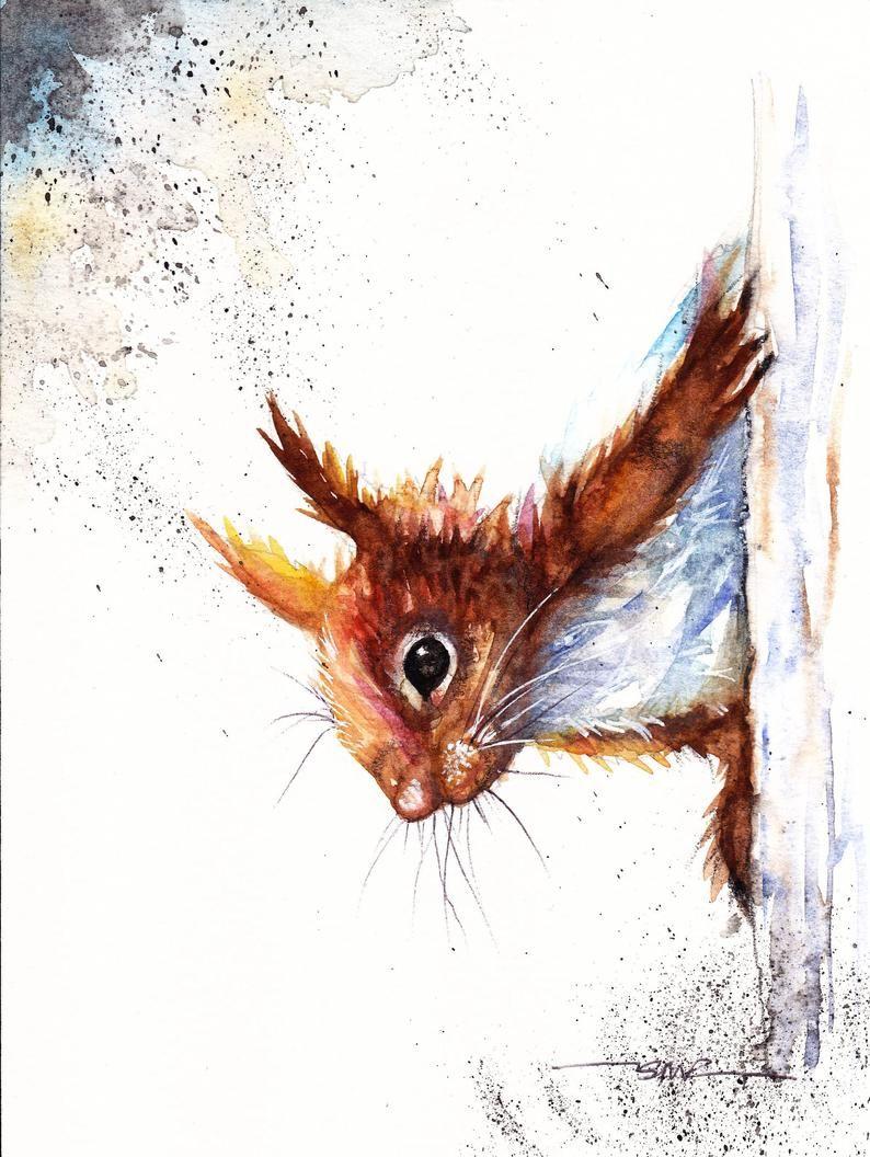 Squirrel,home decor,wall art,poster,nursery decor,