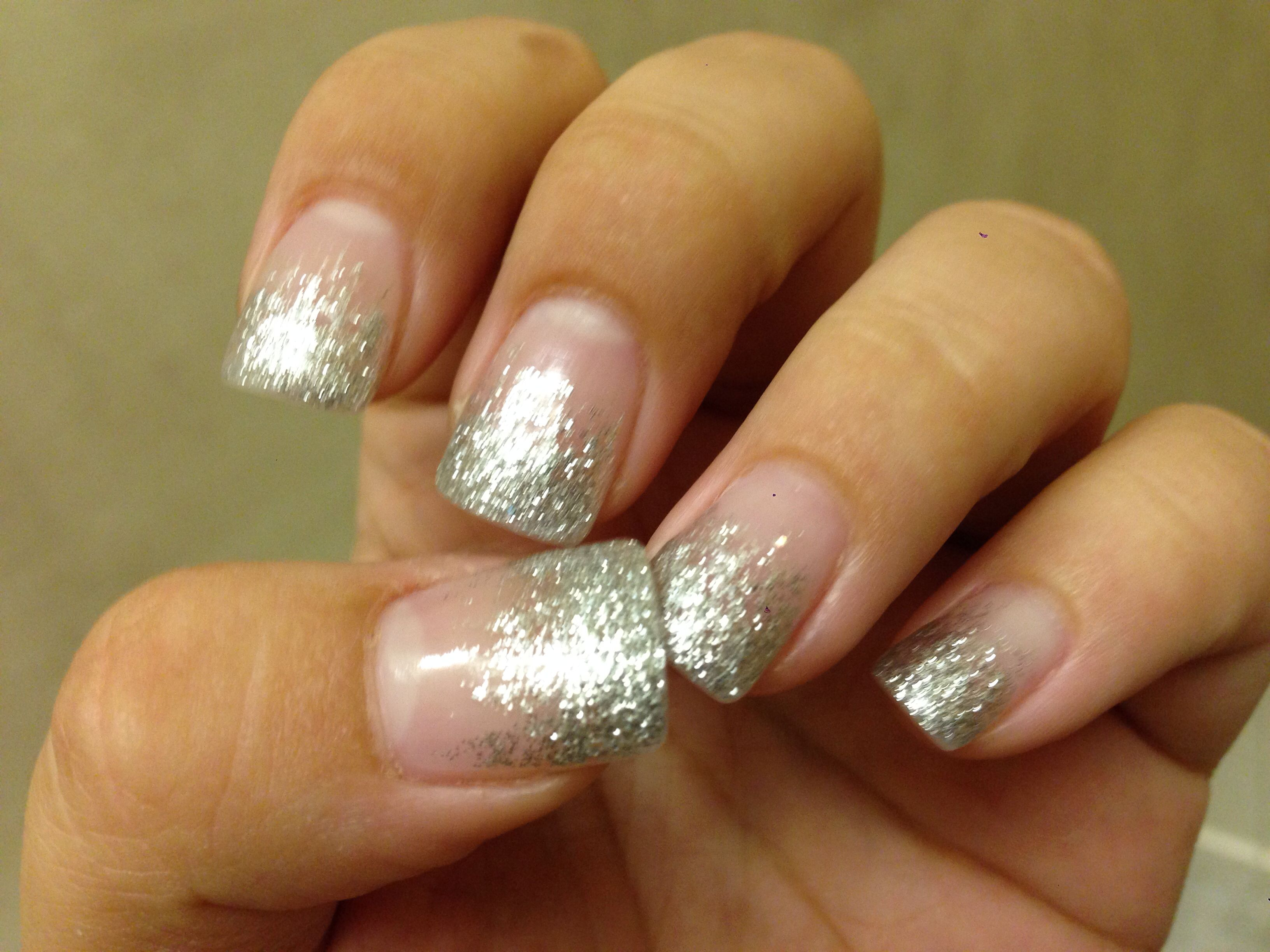 Sparkly French manicure. I wore these for prom! | Nails | Pinterest ...
