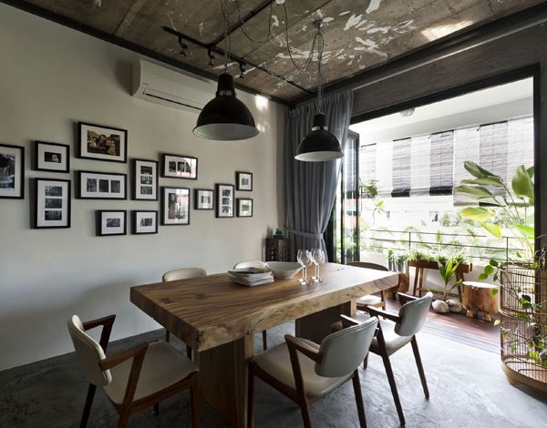 Interior Design Vintage Industrial Singapore Apartment