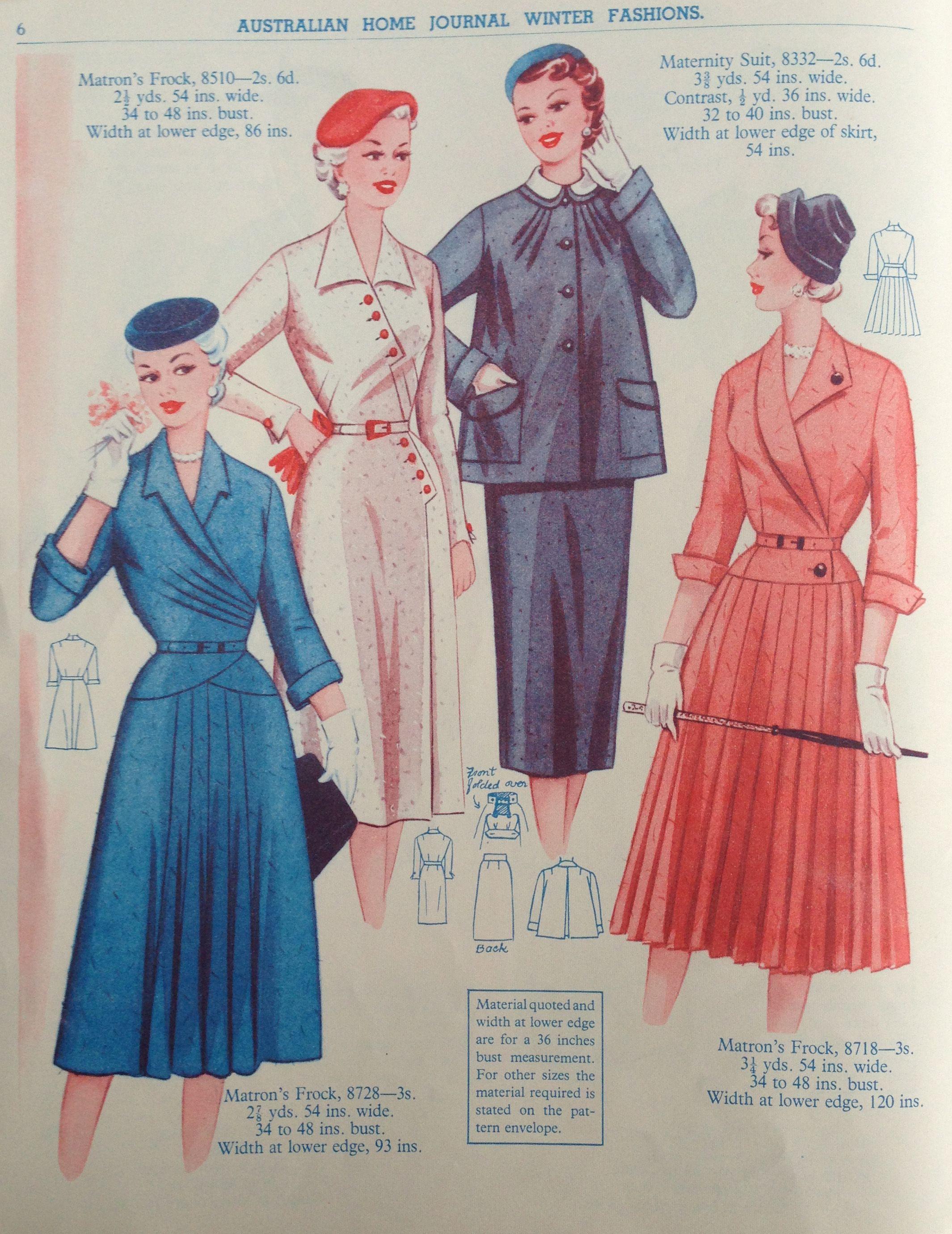 Australian Home Journal - 50\'s fashion | Hats, headwear and fashion ...
