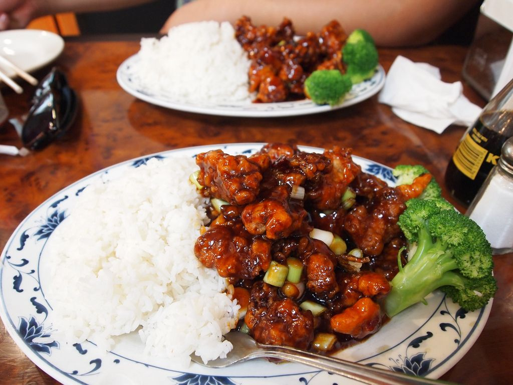 Plate of General Tso's Chicken in New York City