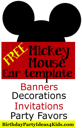 free mickey mouse ears template use to make mickey and minnie mouse party invitations - Mickey Mouse Pictures Printable