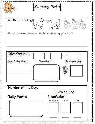 Morning Math Math Freebie Education Math Homeschool Math