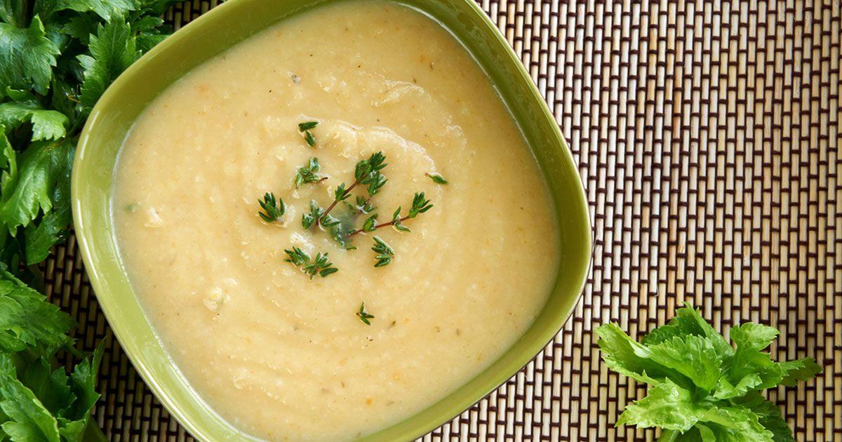 شوربة الكرفس Sorrel Soup Cream Of Celery Soup Celery Soup