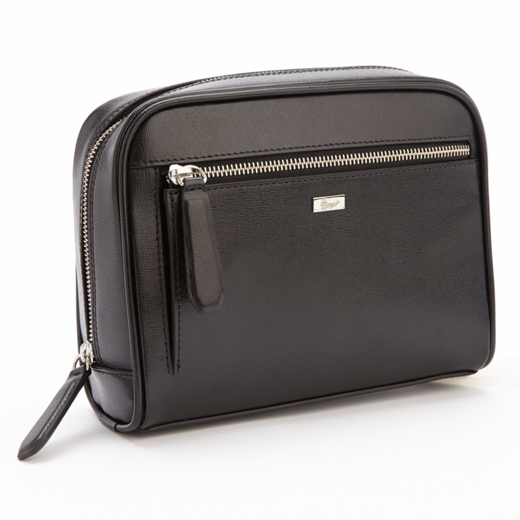 1a14bd8c9c9d Royce Leather Genuine Safin Leather Toiletry Travel Grooming Wash Bag - 230- BLACK-2