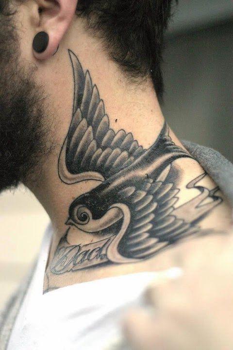 Eagle Neck Tattoo Designs For Men