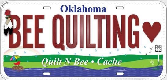Quilt N Bee License Plate For Row By Row 2015 Row By Row