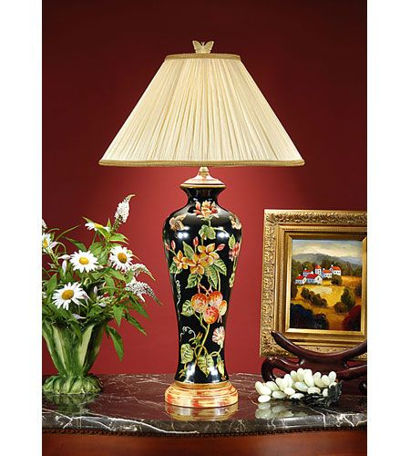 Wildwood Lamps Fruits And Flowers Table Lamp In Hand Painted Porcelain 7873