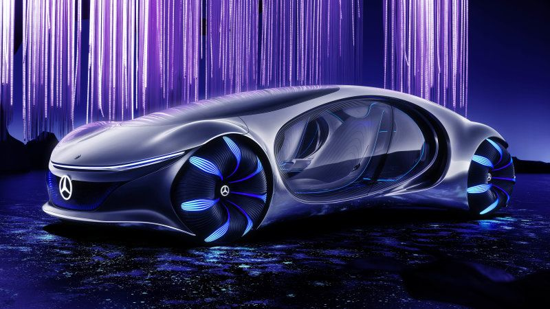 Mercedes Benz Vision Avtr Concept Car At Ces Is Inspired By Avatar In 2020 Concept Cars Futuristic Cars Mercedes Benz