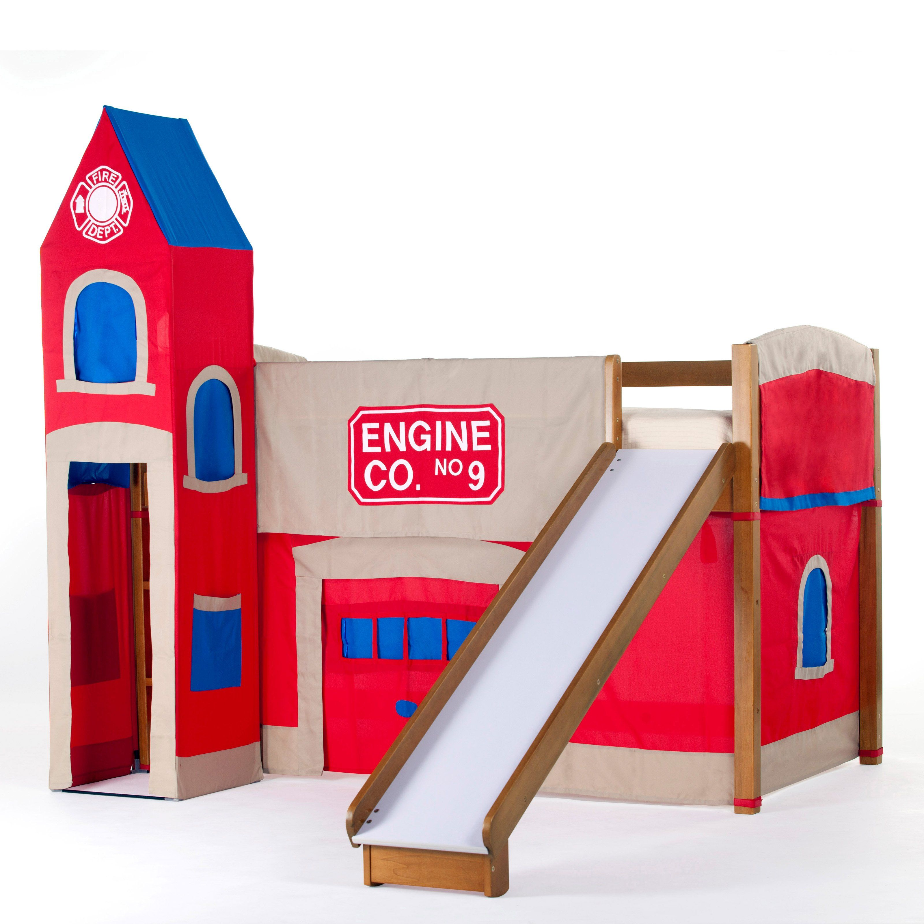 Have to have it Firehouse Junior Loft with Slide Pecan $619 00