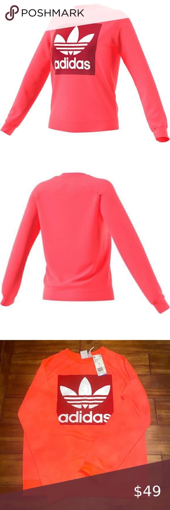 Adidas Originals Trefoil Crewneck Sweatshirt Brand New Hot Pink Is The Trend Of The Season Adida Sweatshirts Crew Neck Sweatshirt Branded Sweatshirts [ 1740 x 580 Pixel ]