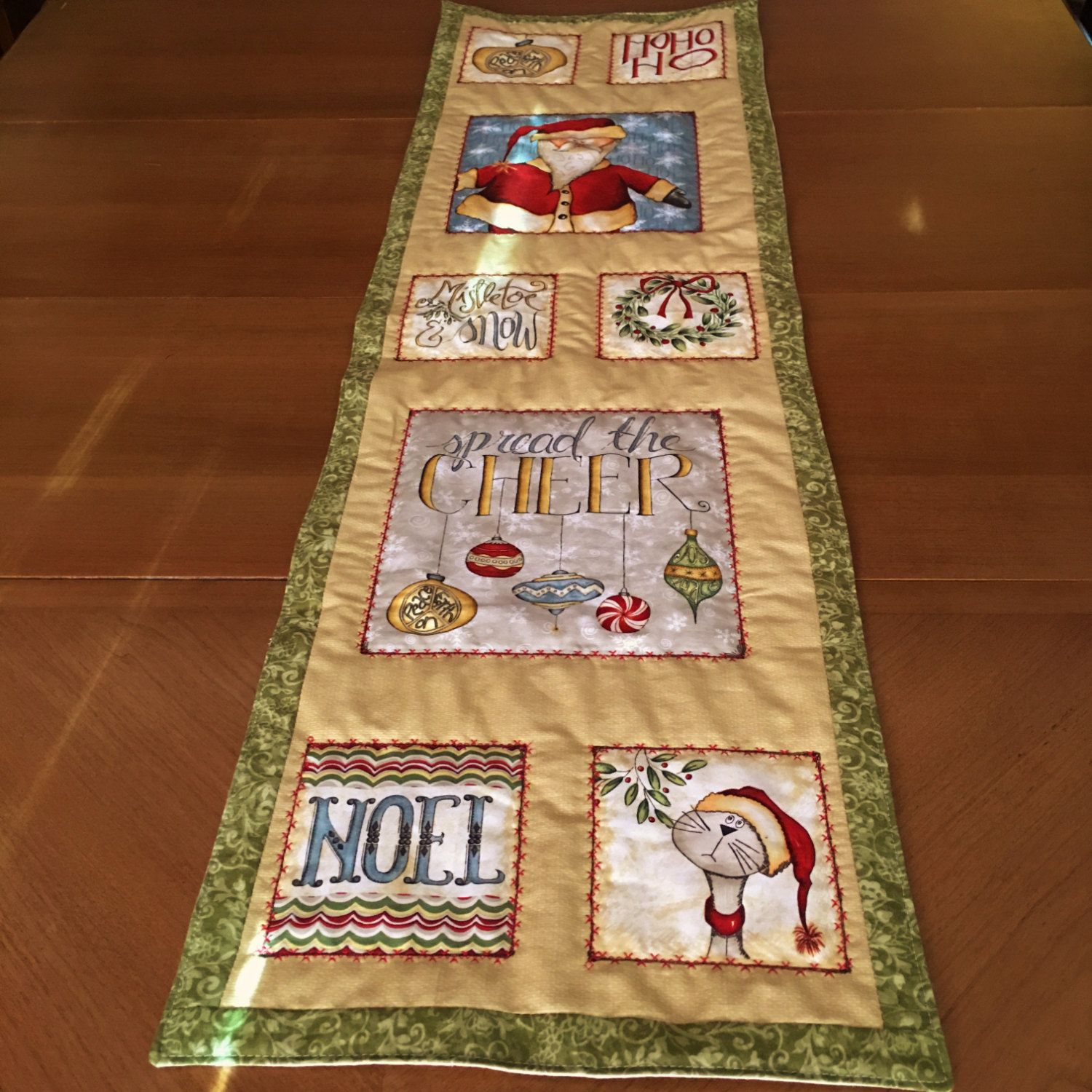 quilt youtube table watch christmas runner quilted
