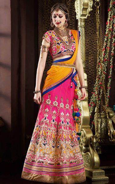 Dazzling Deep Pink Designer Lehenga Choli