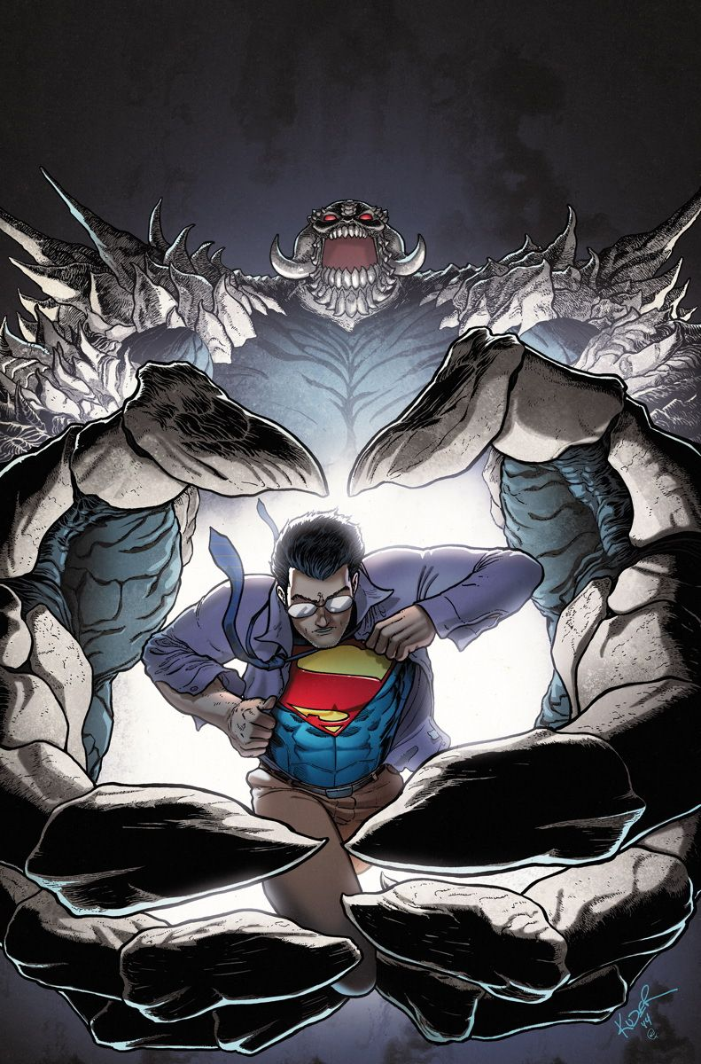 #Superman #Fan #Art. (ACTION COMICS #32) By: Aaron Kuder. (THE * 5 * STÅR * ÅWARD * OF: * AW YEAH, IT'S MAJOR ÅWESOMENESS!!!™)[THANK U 4 PINNING!!!<·><]<©>ÅÅÅ+(OB4E)