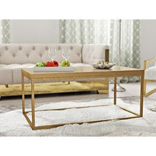Gold Coffee Tables Youll Love Wayfair Formal Living Room - Wayfair gold coffee table