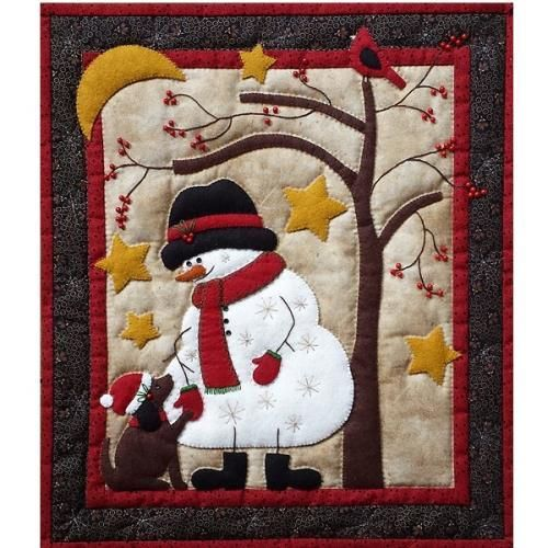Frosty And Friend Kit Applique Quilt Patterns Wool