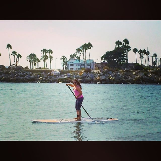 No better way to beat this #heat in #california than spending time at the #beach Look ma! I'm #paddleboarding with #sharks ! Best thing is that I don't know how to #swim !!!  #lol  #sup ##cali #sealbeach #beautifulday #beautifulsky #greatday #endofsummer #endofsummerfun  by sonia_vw