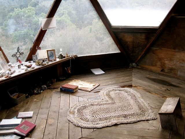 """Cool meditation room featured in Cristin Frank's new book, """"Repurposed Rooms."""" Just out the review of the book (and see photos) on Mom Home Guide!"""