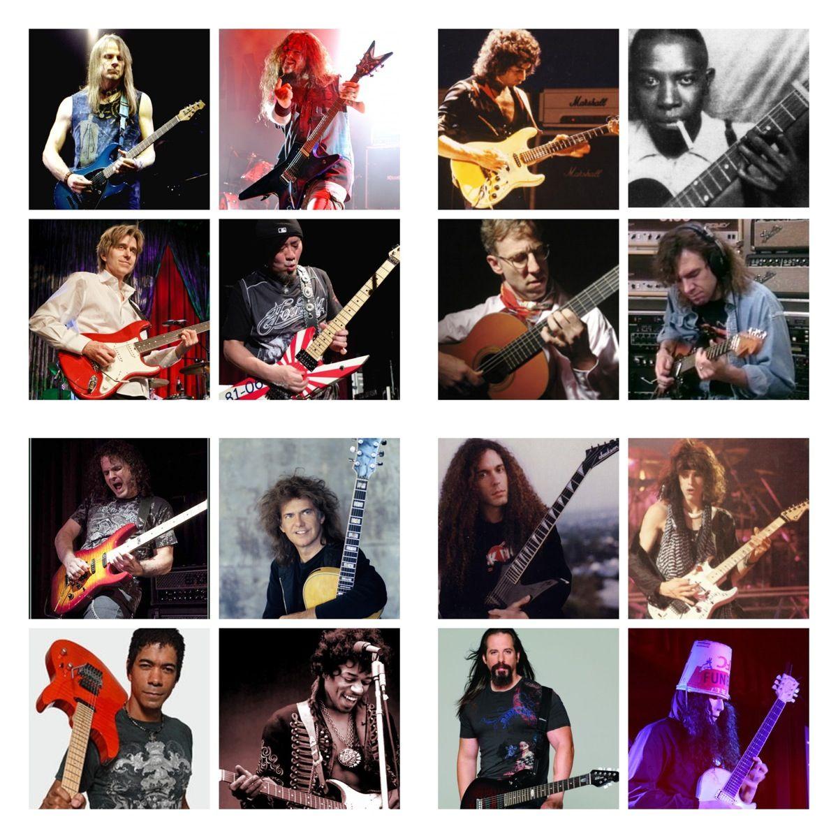 Great Guitarists / Guitar Players PART 2 Jimi Hendrix Akira Takasaki Steve Morse…
