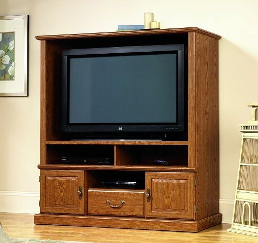 Sauder 53 5 In Oak Universal Tv Stand