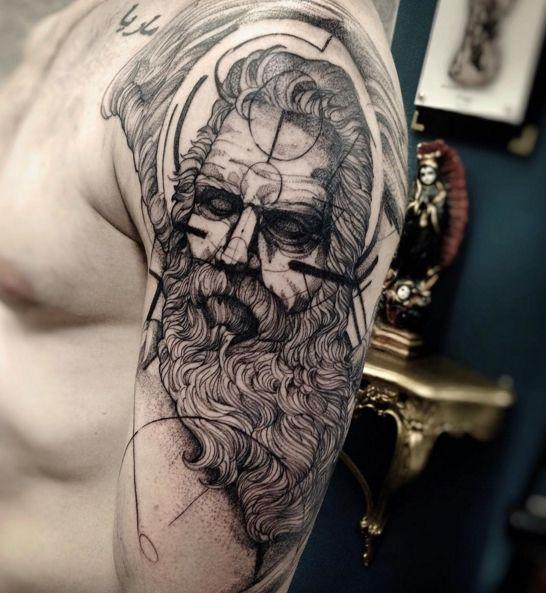 Fredao Oliveira Tattoo Artist Zeus Tattoo Greek Tattoos Sketch Style Tattoos
