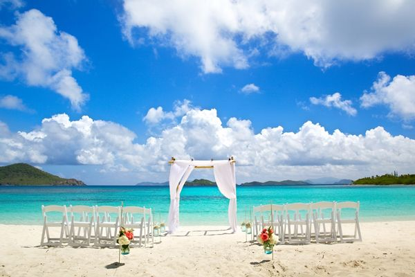 A Stunning Real Wedding On Lindquist Beach St Thomas By Crown Images Full