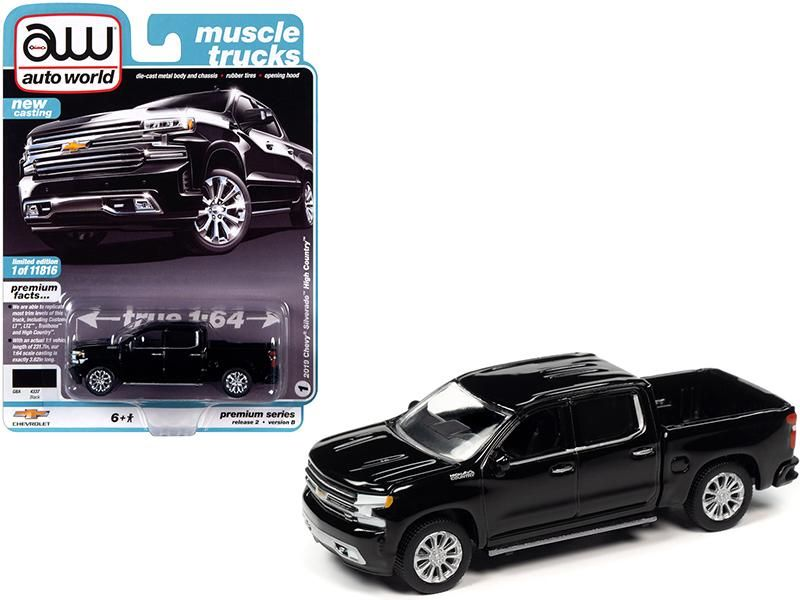 2019 Chevrolet Silverado High Country Pickup Truck Black Muscle Trucks Limited Edition To 11 816 Pieces Wor Diecast Model Cars Muscle Truck Chevrolet Silverado
