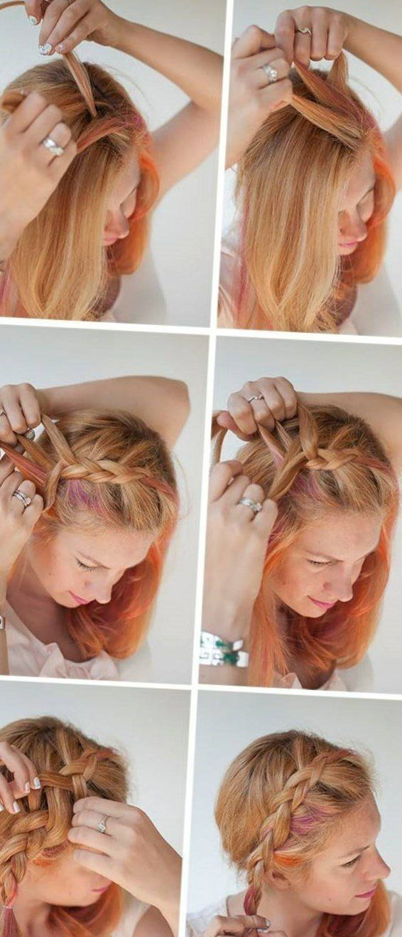 Steckfrisuren fur kurze haare anleitung