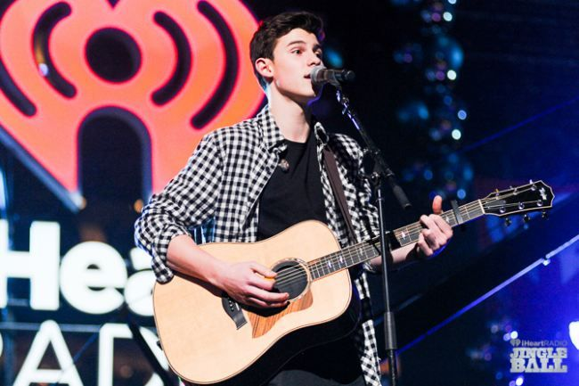 Shawn Mendes onstage during iHeartRadio Jingle Ball 2014 hosted by Z100 New York at Madison Square Garden on December 12, 2014 in New York City. (Photo: Brian Friedman for iHeartRadio)